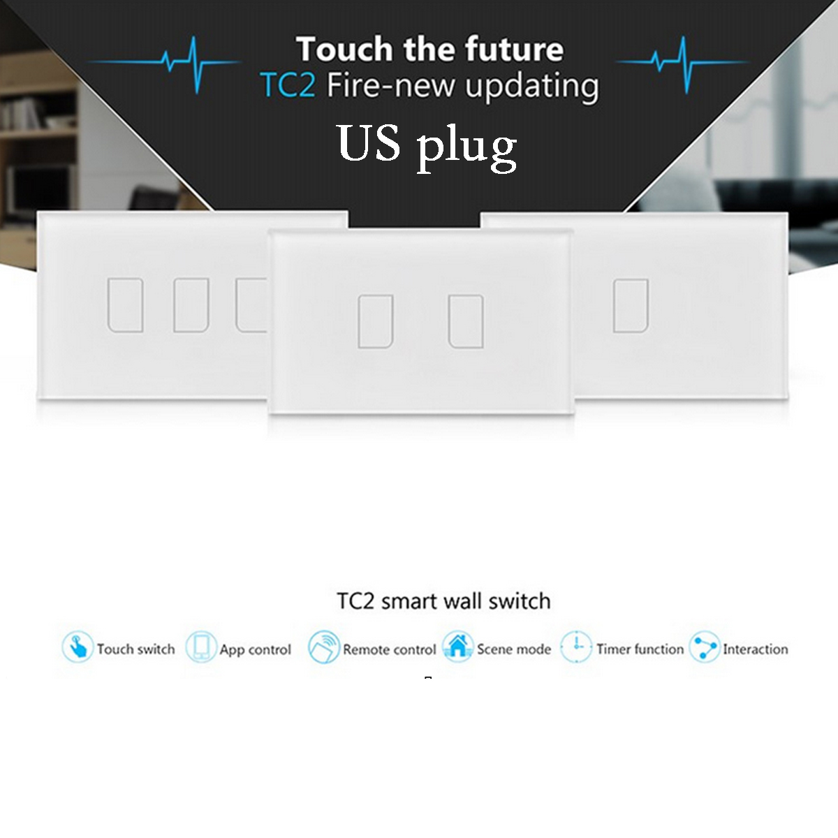 Details About Smart Broadlink Tc2 Wall Touch Light Switch Panel 433mhz Wifi Rf Remote Control Switches Require No Wiring Gizmodo Australia