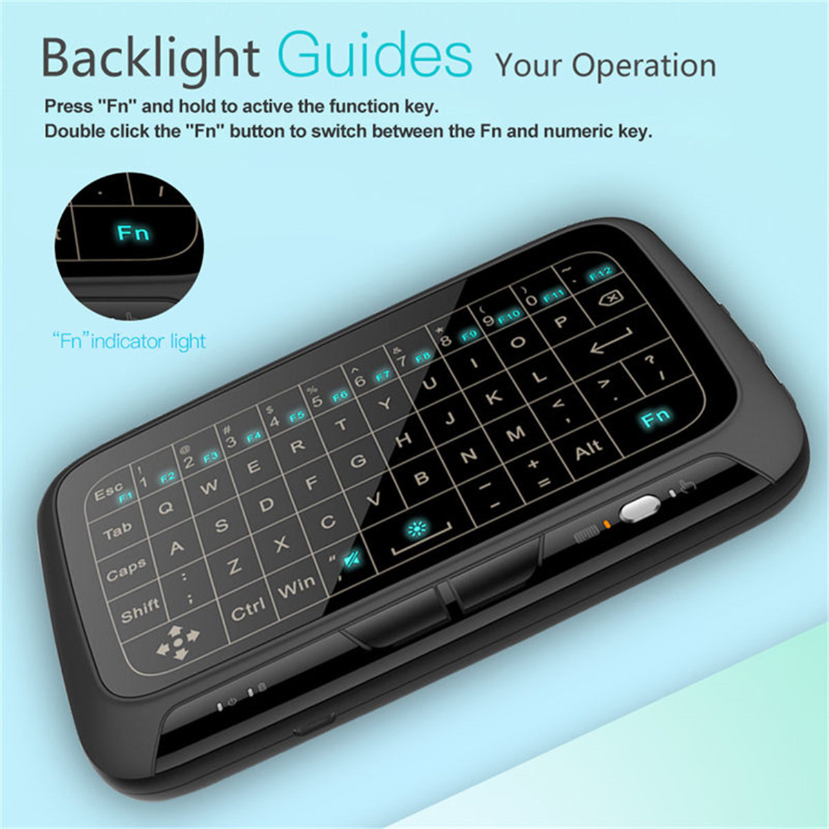 H18 plus Wireless Keyboard 2.4G Portable Keyboard Touchpad Mouse for ...