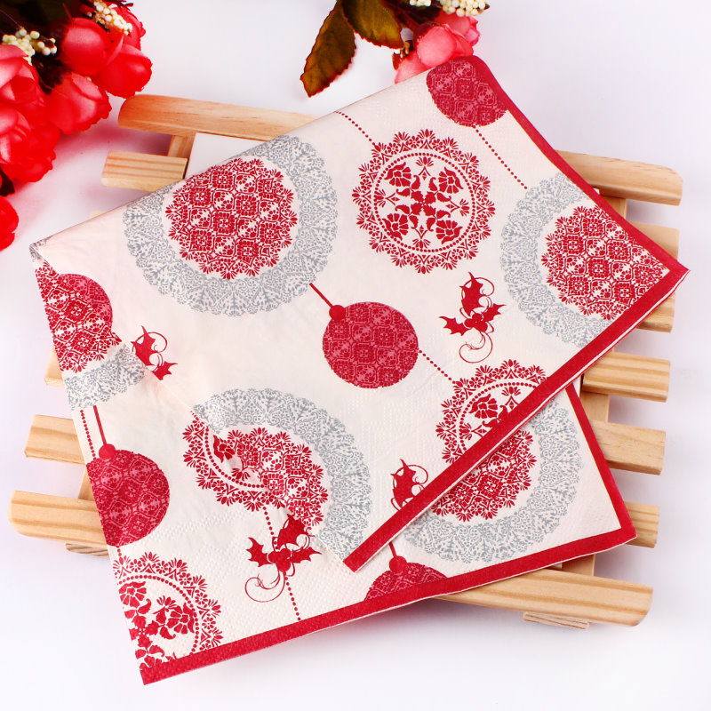 2017 New Year Paper Napkins Serviettes Tableware