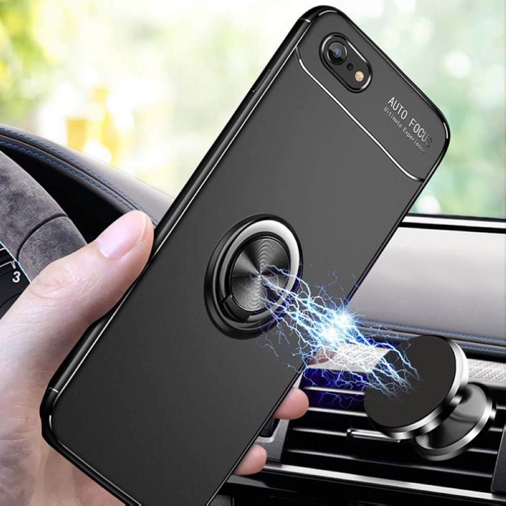 huge selection of 0aeac fb627 Details about Ring Finger Loop Magnetic Car Mount Phone Case Cover For  iPhone XS MAX XR 6 7 8