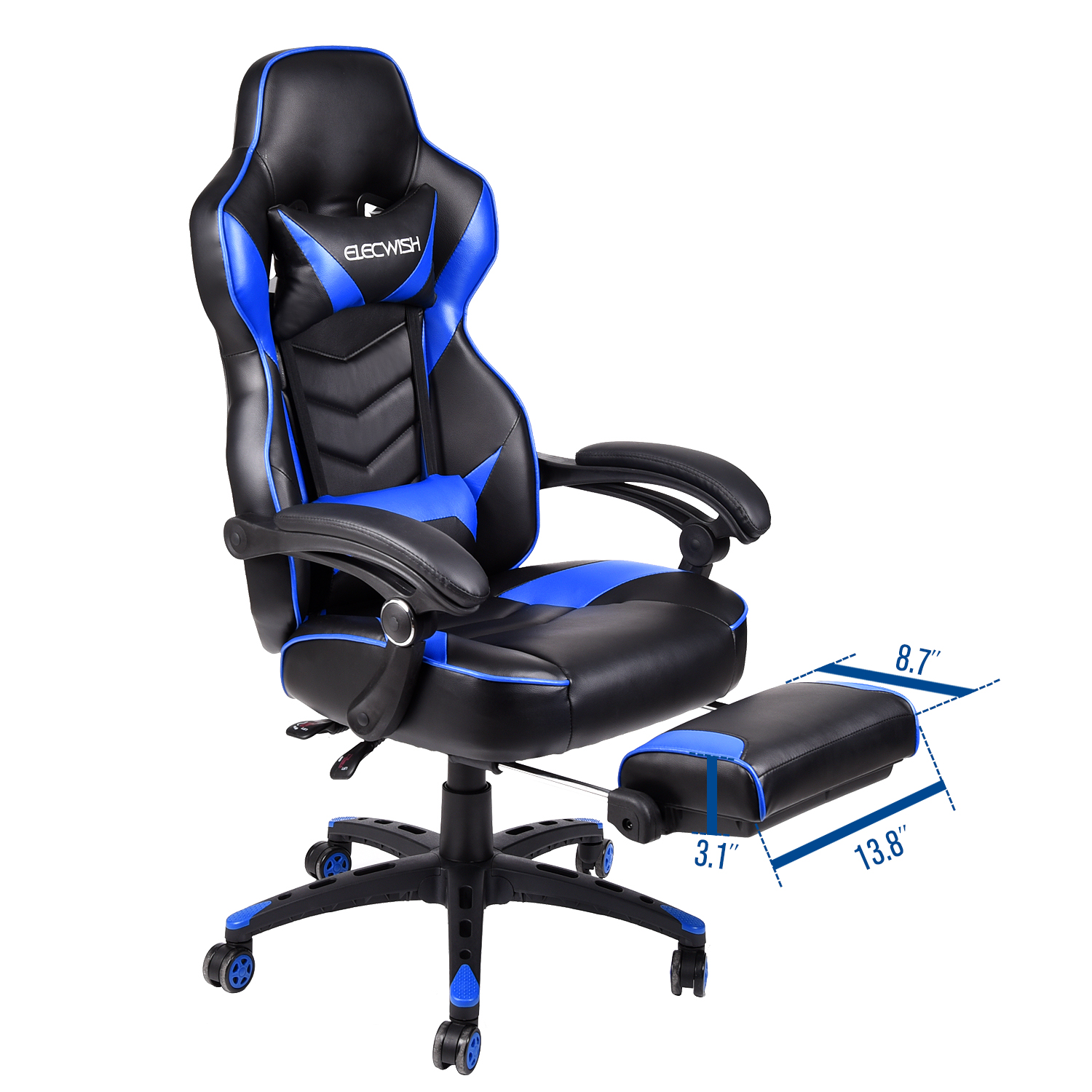 Tremendous Details About High Back Gaming Computer Chair Race Bucket Seat Ergonomic Office Desk Footrest Gmtry Best Dining Table And Chair Ideas Images Gmtryco