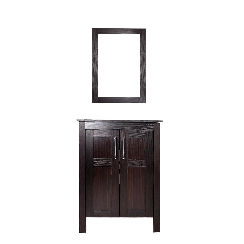 24\'\' 28\'\' Floor Bathroom Vanity Floating Cabinet Wood Vessel Sink ...
