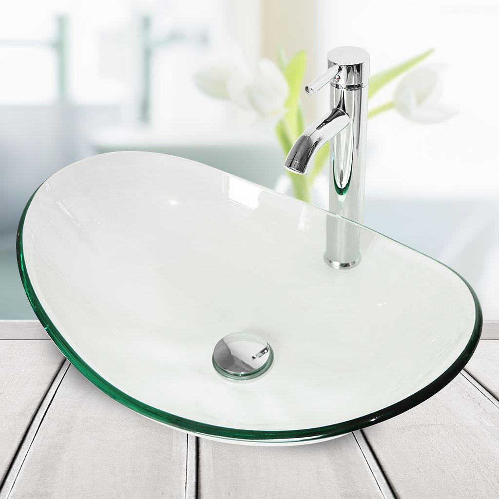 24 Bathroom Vanity Floor Cabinet Organizer Oval Vessel Sink Faucet