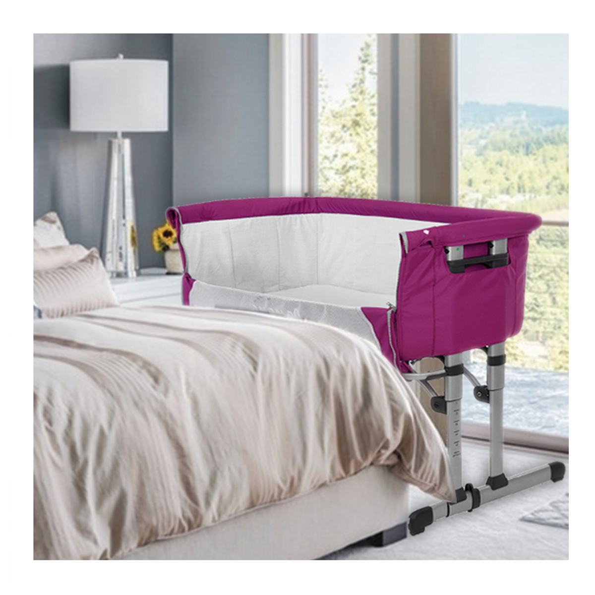 next crib arms vue cribs bedside reach bed co attaches to bassinet attached sleeper baby clear png best