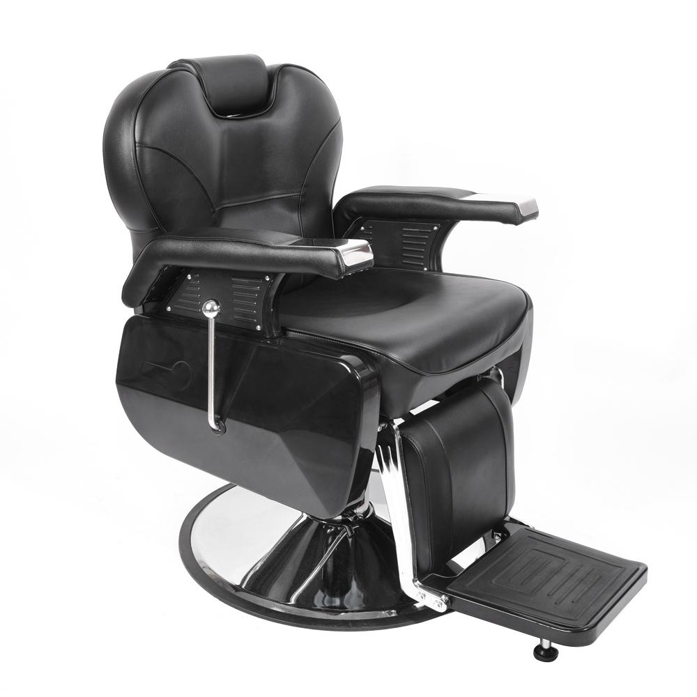 Swivel Barber Chair Hydraulic Reclinable Salon Hair Cutting Shaving Tattoo  Chair