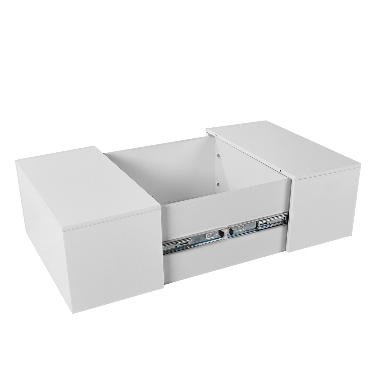 Living Coffee Table High Gloss White Square Modern Room Furniture ...