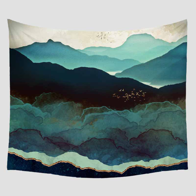 Indisch Geometric Scenic Wandteppich Böhmen Tapestry Wall Hanging Home Décor DIY