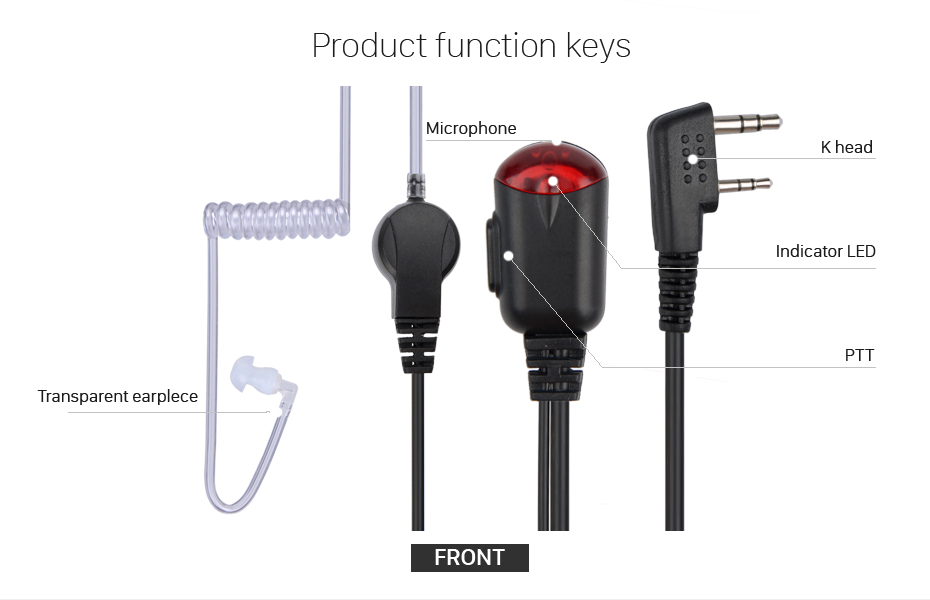 TYT WOUXUN PUXING -BAOFENG Headset Lightweight for KENWOOD