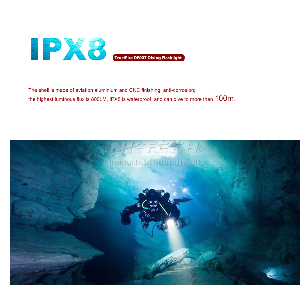 Lanternes Led Détails Trustfire Sur Scuba For Plongée Cave Lampes Torche Poche De Underwater wkiTZOPXu