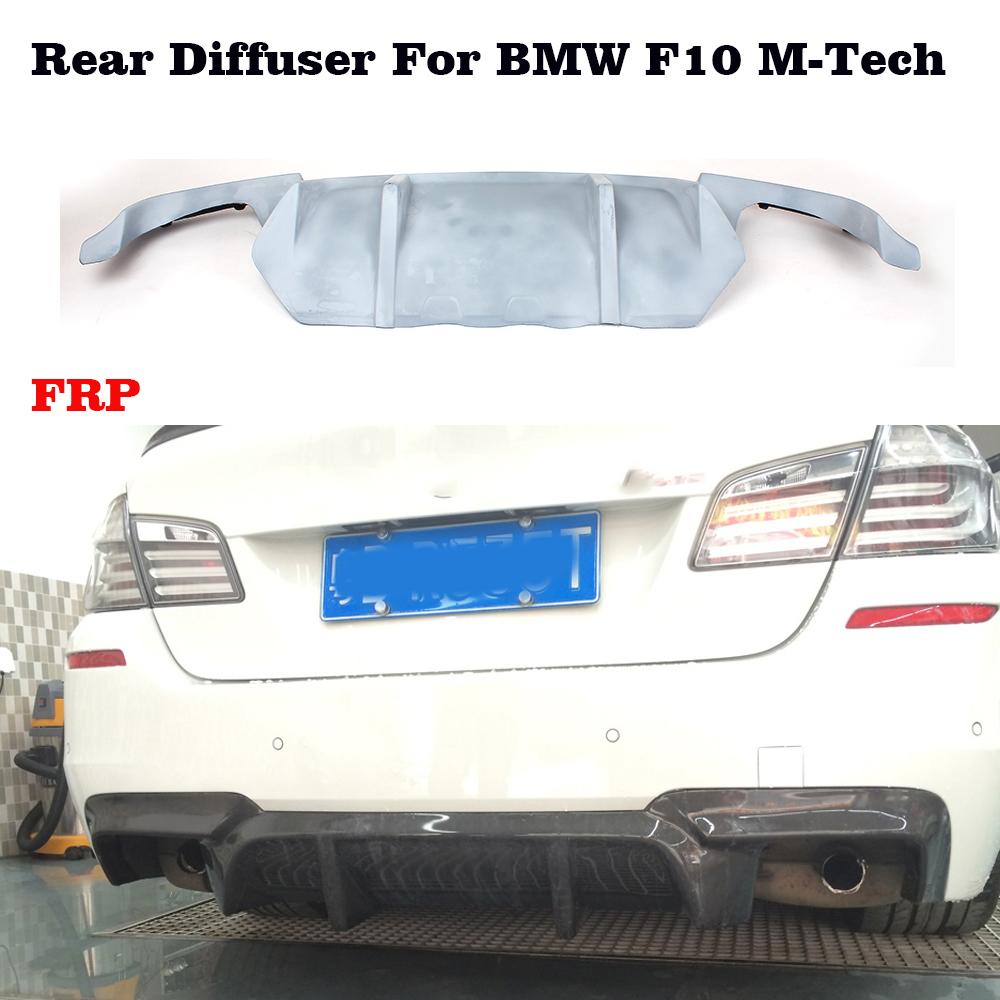 Carbon Fiber Rear Bumper Diffuser Lip Fit For BMW F10 Sedan Non M-Tech