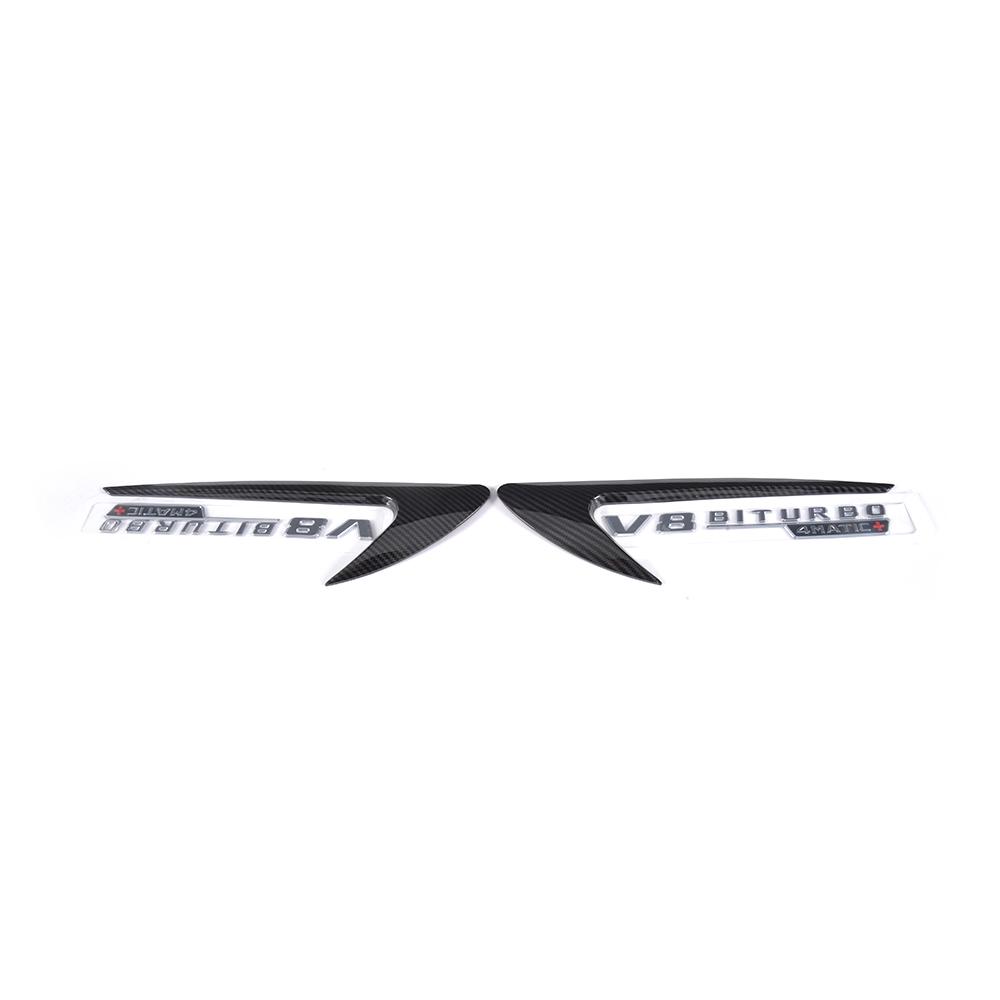Silver Air Vent Side Fender Covers For BENZ C250 C350 C63 S200 S63 E200 E55 E63