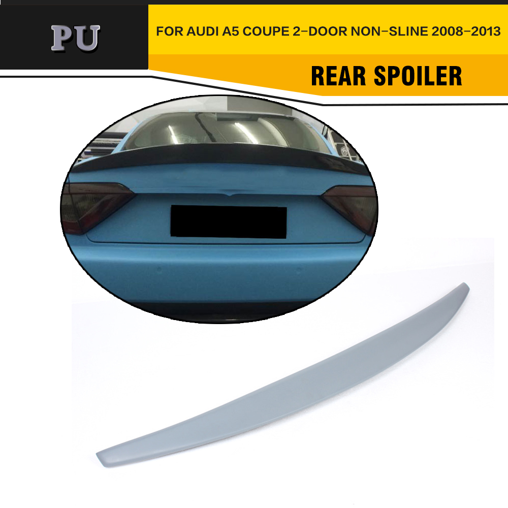 Unpainted S Style Rear Bumper Spoiler Wing Fit For Audi A5