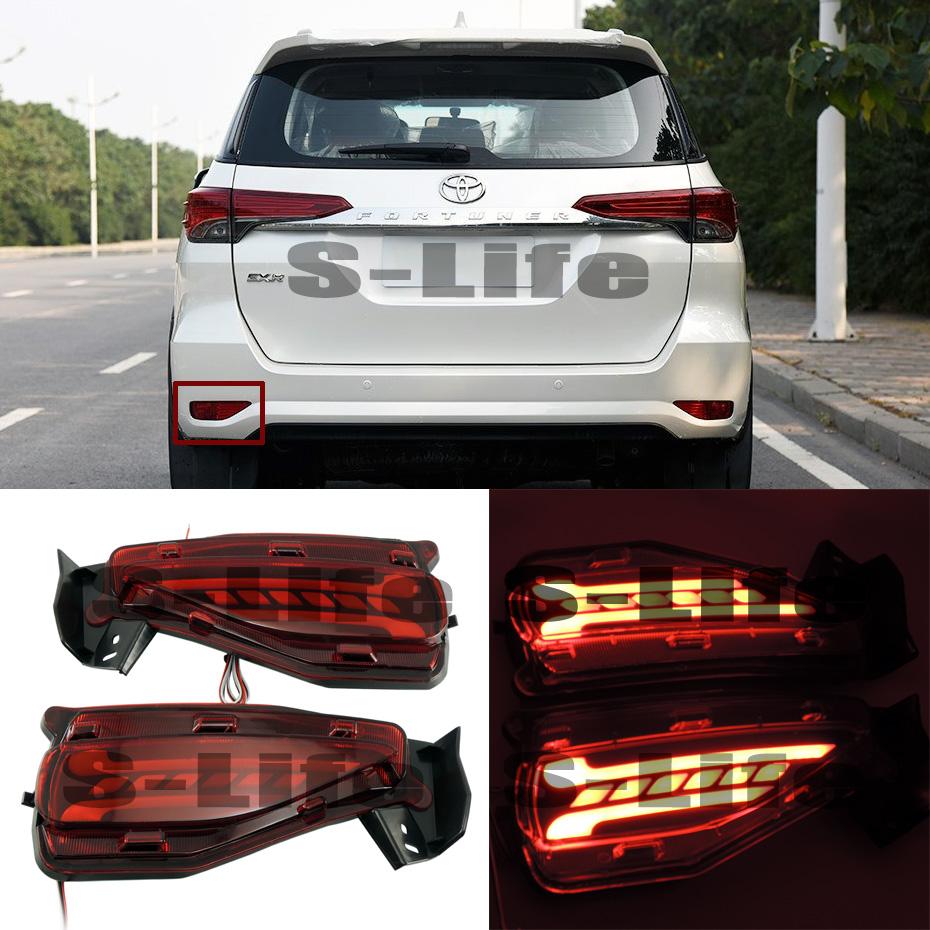 Details about LED Rear Bumper Reflector Surface emission Light For Toyota  fortuner 2015-2017