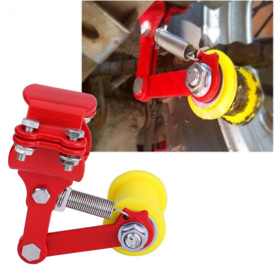 Chain Adjuster Tensioner Universal Bolt On Roller Motorcycle Accessories Chain Tensioner Tool for Motorcycle Red