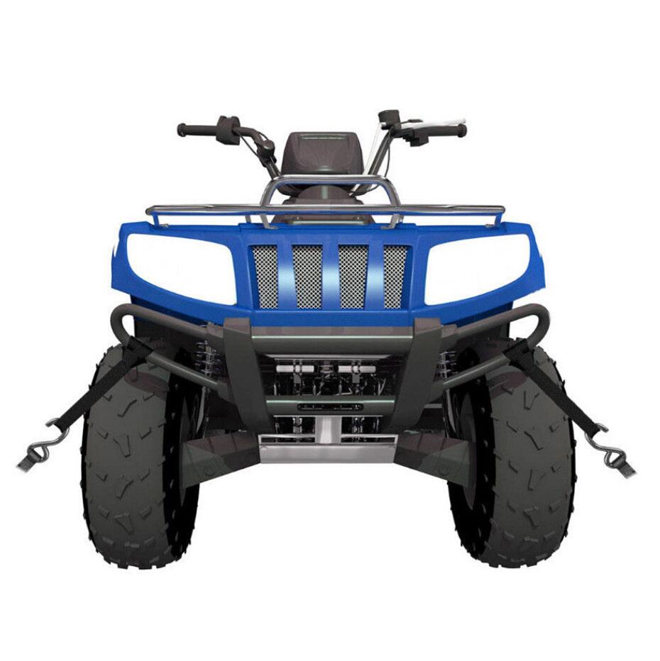 8x Black Soft Loop Tie Down Strap for Towing Cargo ATV UTV Motorcycle Snowmobile