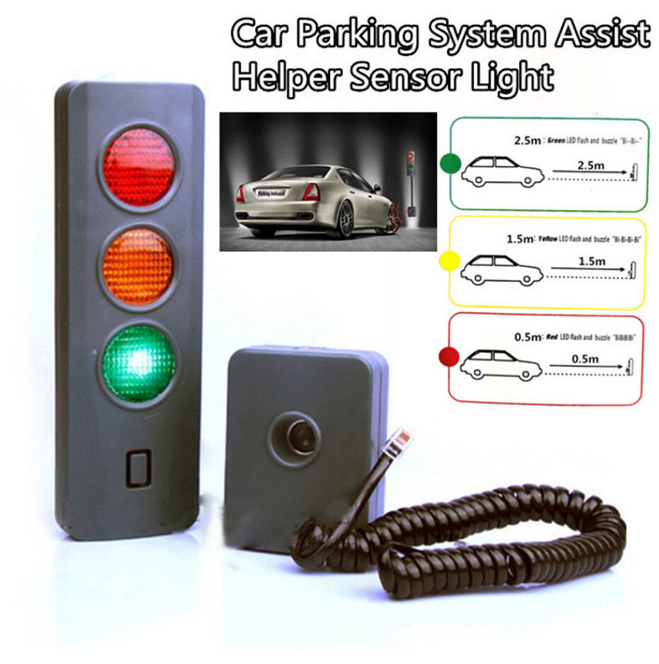 Parking Garage Sensor Lights: Home Garage Safe-Light Parking System Assist Distance Stop