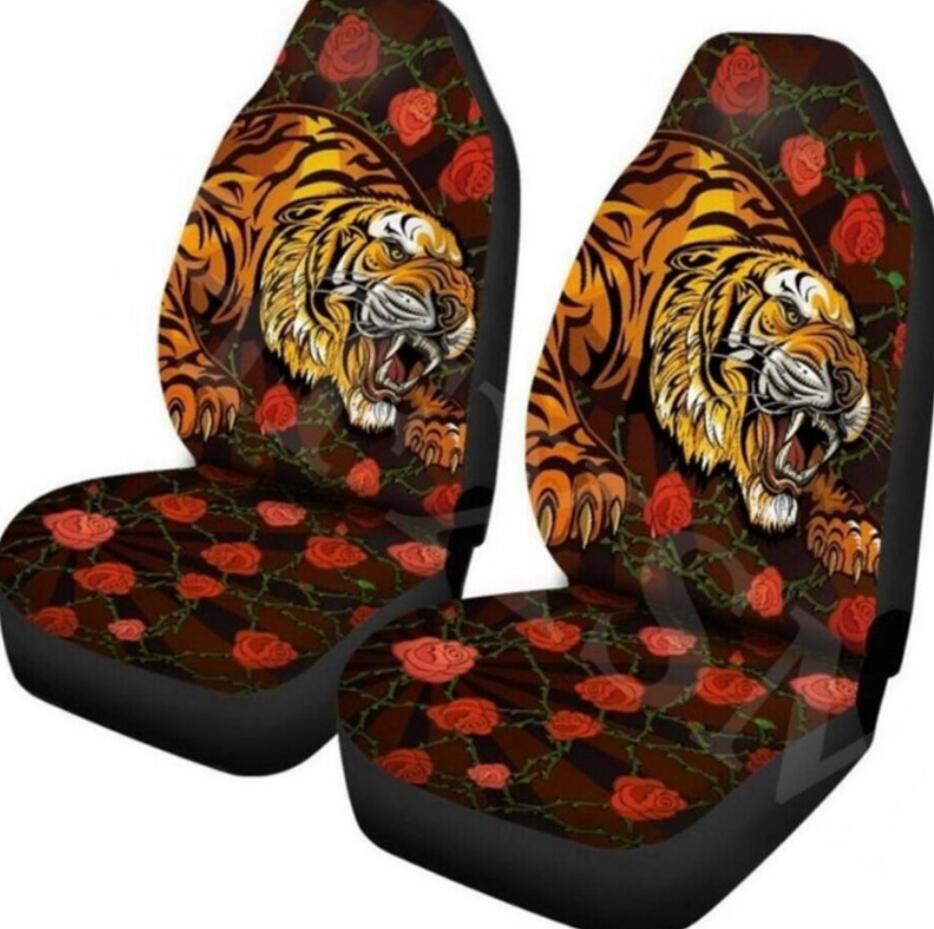 SUV /& Truck FOR U DESIGNS Women Ladies Car Seat Covers with Retro Floral Printed 2pcs Car Mat Cover Protect for Car