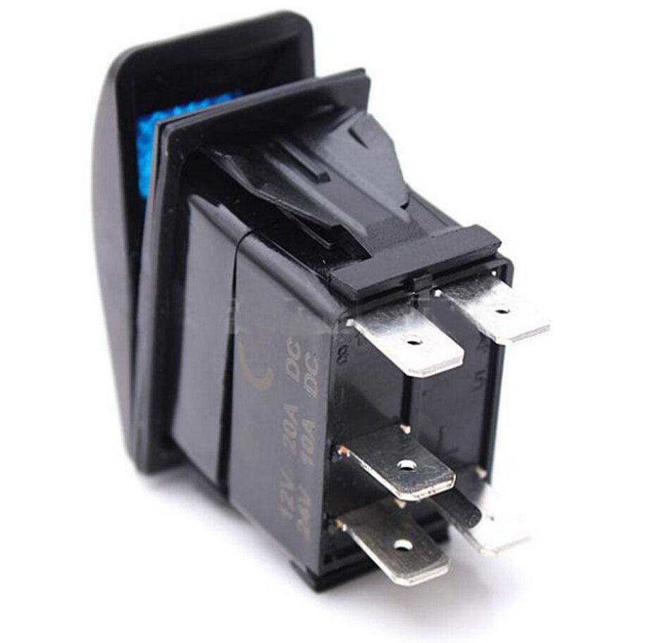 Car Auto 40a Wiring Harness Kit 12v 20a Blue Roof Led Light Rocker Kits Switch Lamp