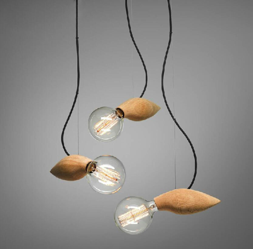 Modern Swarm Lamp Wooden Bee Pendant Light Fixtures Bar Loft ...