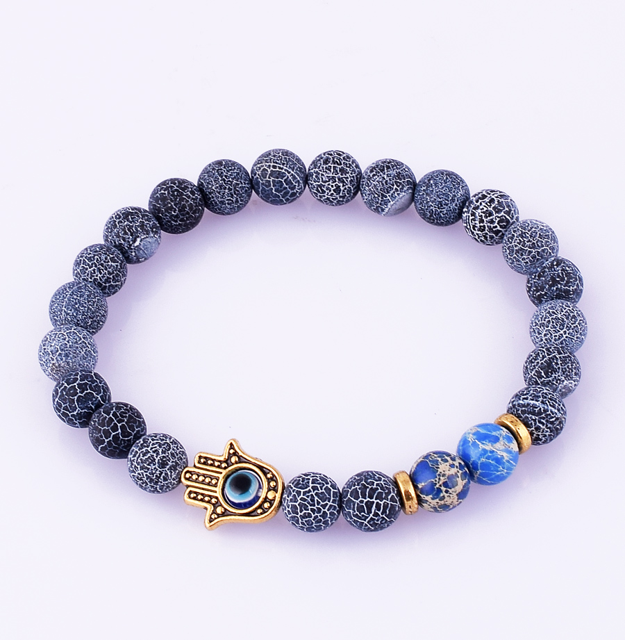 fashion jewelry hamsa lucky beaded stretch bracelet