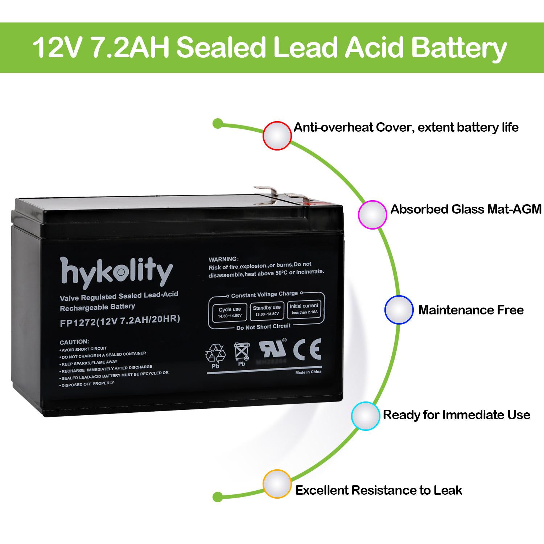 Details about 2 x 12V 7AH SLA/Sealed Lead Acid Battery For Alarm System on