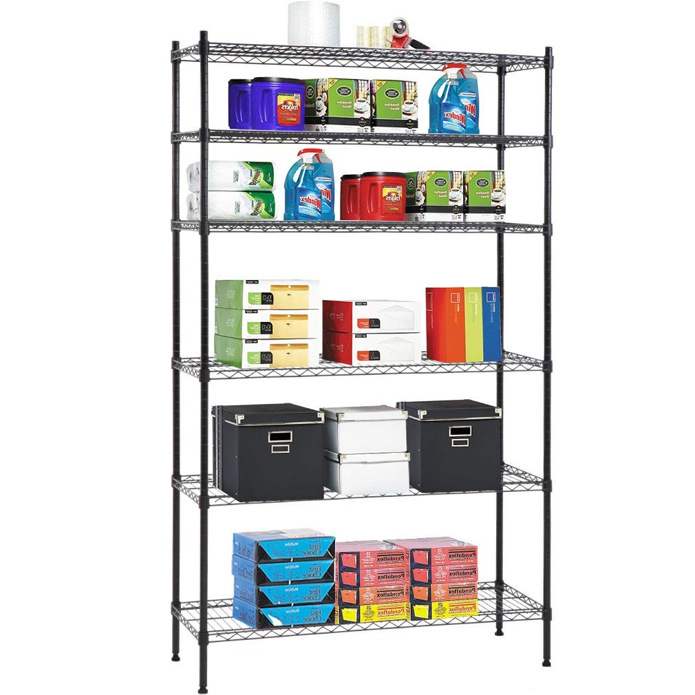 Details about 6 Tier Wire Shelving Unit Heavy Duty Metal NSF Organizer on
