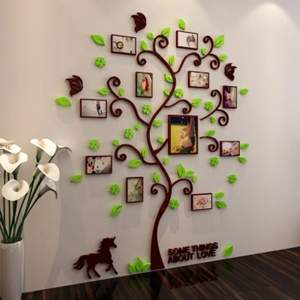 Details about 3D Photo Frame Family Tree DIY Wall Decal Stickers Living  Room Bedroom Art Decor