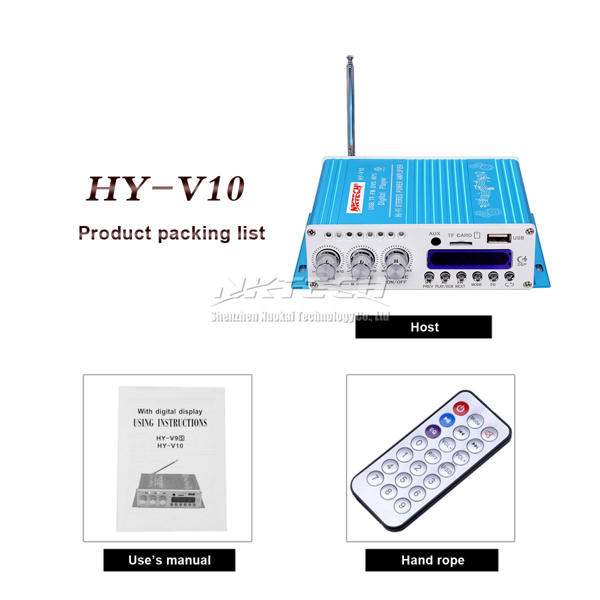 Hy V10 Fm Mp3 Audio Speaker Bluetooth Amplifier Hifi Bass Digital Circuit Diagram And Description Of Amplifierhifi Player Remoter