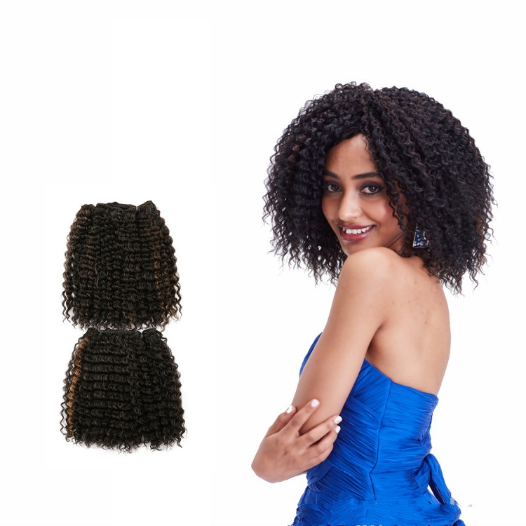 Fashion Short Curly Hair Weave Extension Synthetic For Black Women
