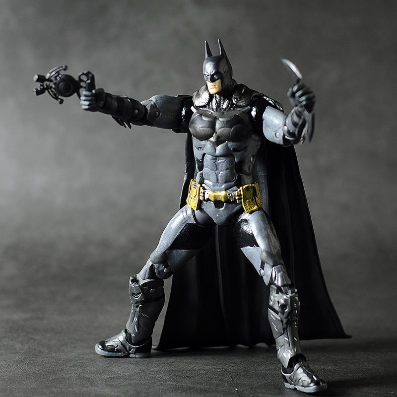 "7/"" Batman vs Superman Armor BATMAN Action Figure DC Arkham Asylum Hero Toy"