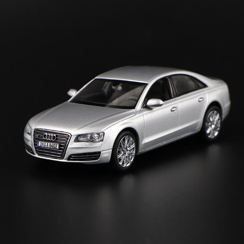1:43 CAR MODEL Audi quattro Gmbh A8 ICE SILVER Eissilber Diecast RARE COLLECTION