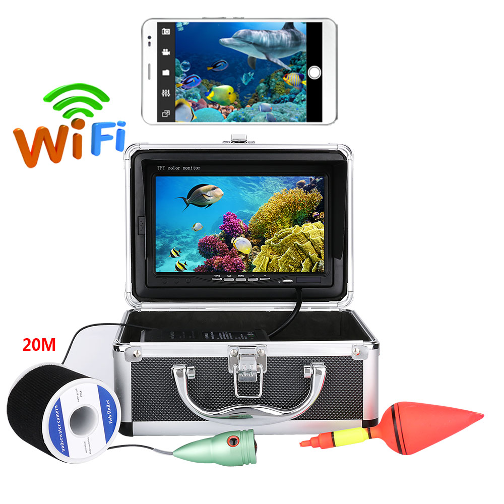 """30M 1000tvl Underwater Fishing Video Camera Kit with 7/"""" Inch Color Monitor"""