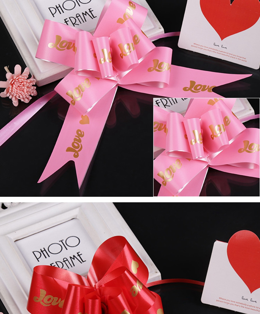 Pull Bow Love Gift Present Wrap Ribbon Wedding Car Birthday Party ...