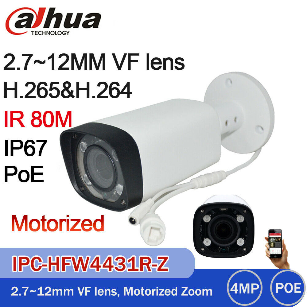 Dahua 4MP H.265 IP POE 2.7-12mm Motorized IP67 Camera IPC-HFW4431R-Z WDR OEM