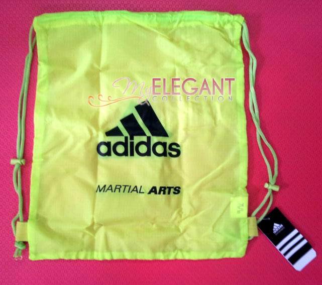 a96ac3ab7b Adidas MARTIAL ARTS Gear Gym Sports Tote Drawstring Pack Nylon Sling Bag  Yellow