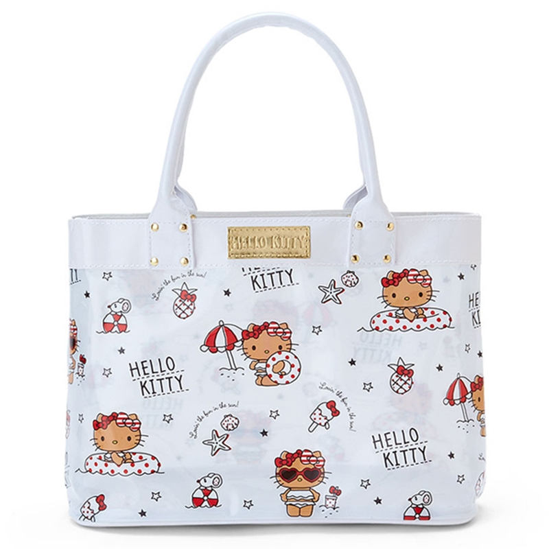 358698d7ac Details about Sanrio Hello Kitty PVC Beach Bag Clear Bag Holiday Tote  Shoulder Bag Travel