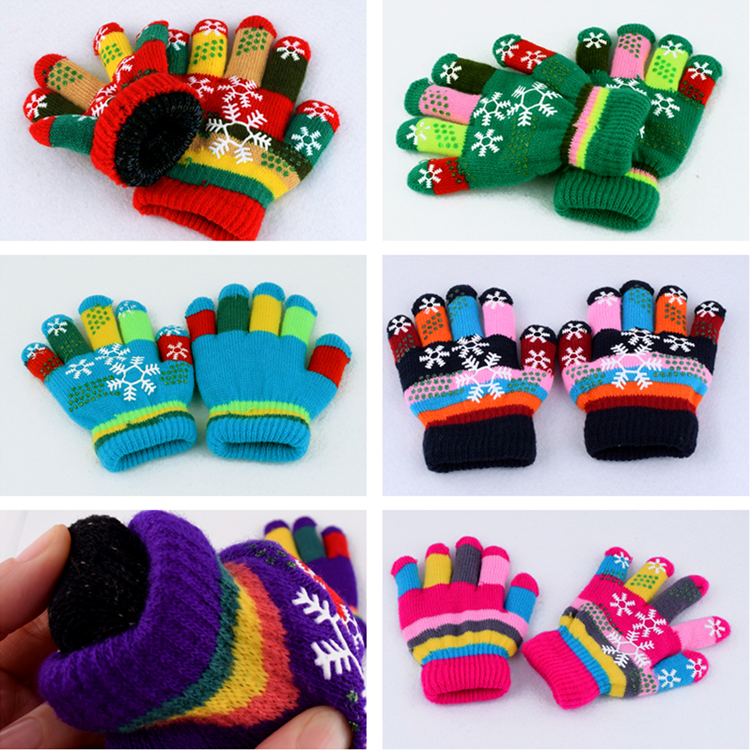 Children Gloves Half-finger Baby Gloves Winter Warm Cute Pretty Unisex 3-5 Years