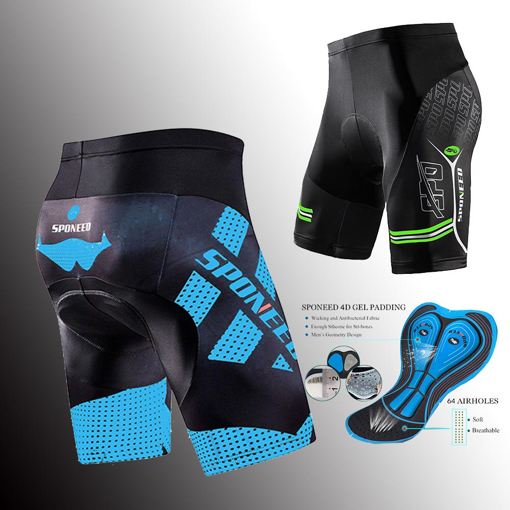 MTB Mens Quality Bike Shorts Pro Biking Half Pants 4D Silicone Pad Biking Tights
