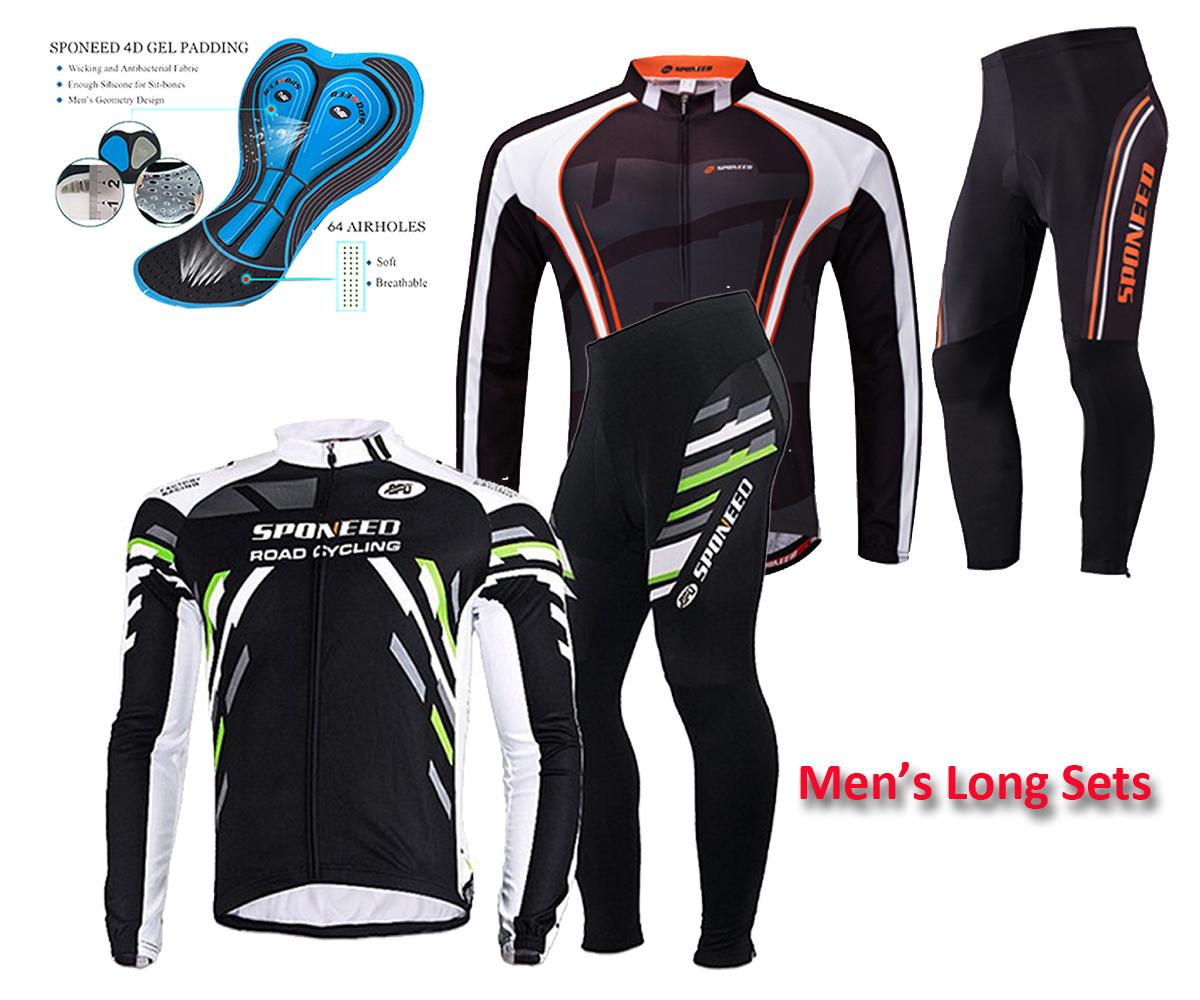 Cycling Clothing Set For Women Full Zipper Bike Jersey Long Sleeve Bicycle Pants