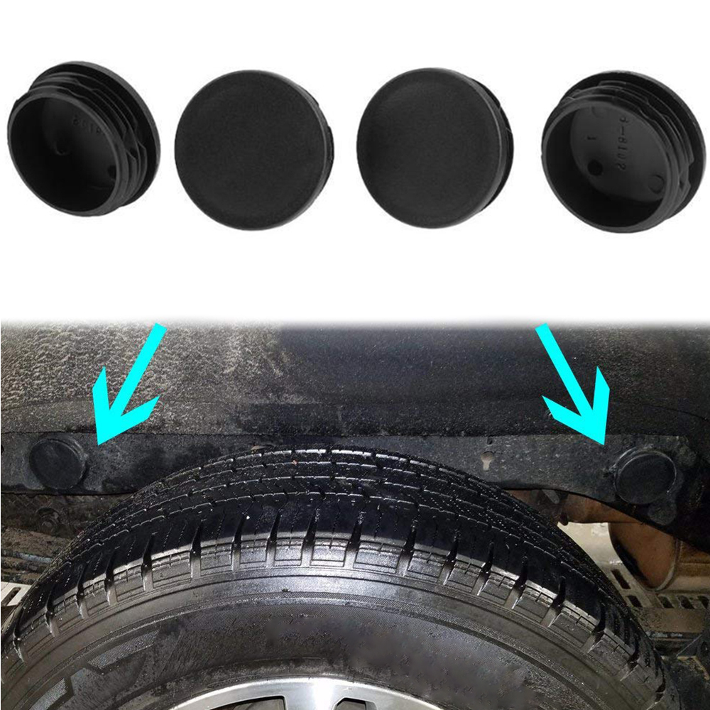4PCS Frame Tube Hole Plugs Rear Wheel Well for 1999 2000 2001 2002 2003 2004 2005 2006 2007 2008 2009 2010 2011 2012 2013 2014 2015 2016 2017 2018 Chevy Silverado GMC Sierra 1500