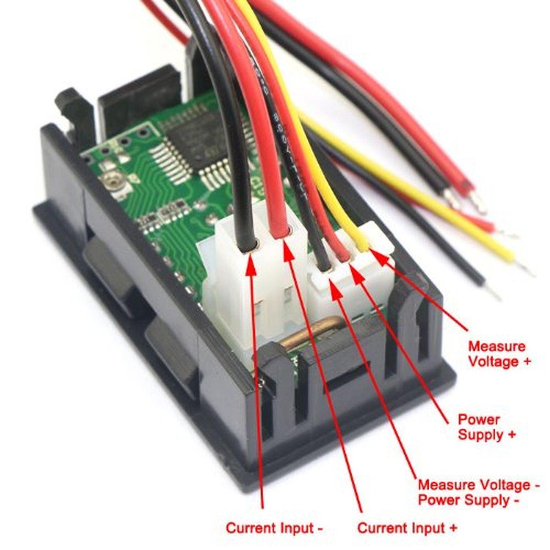 Small Amp Meter : Mini dc v a digital voltmeter ammeter blue red led