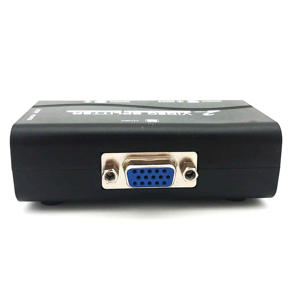2 Port Vga Splitter 1 Pc To Monitors Xga Lcd Video Converter Spliter Box 1080p
