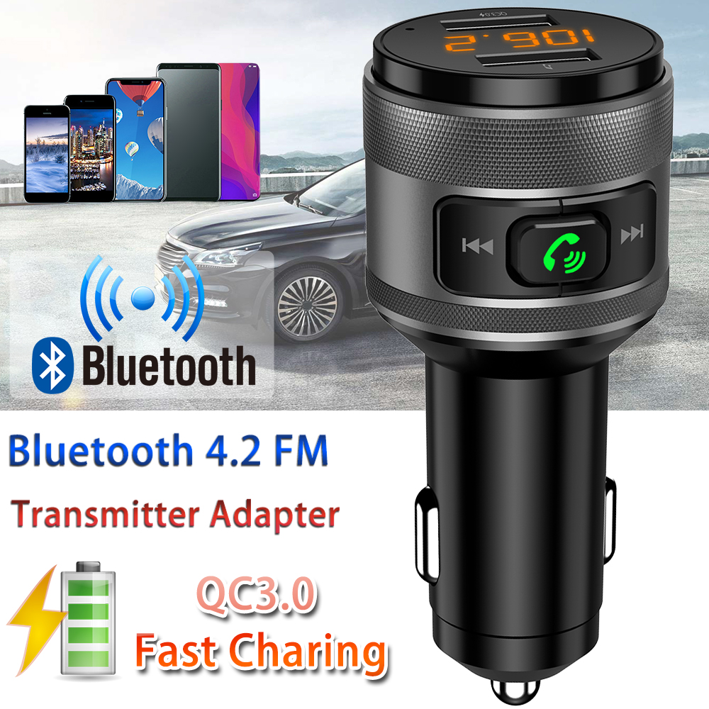 Bluetooth Car Audio Receiver FM Transmitter Wireless Adapter USB Charger US Ship