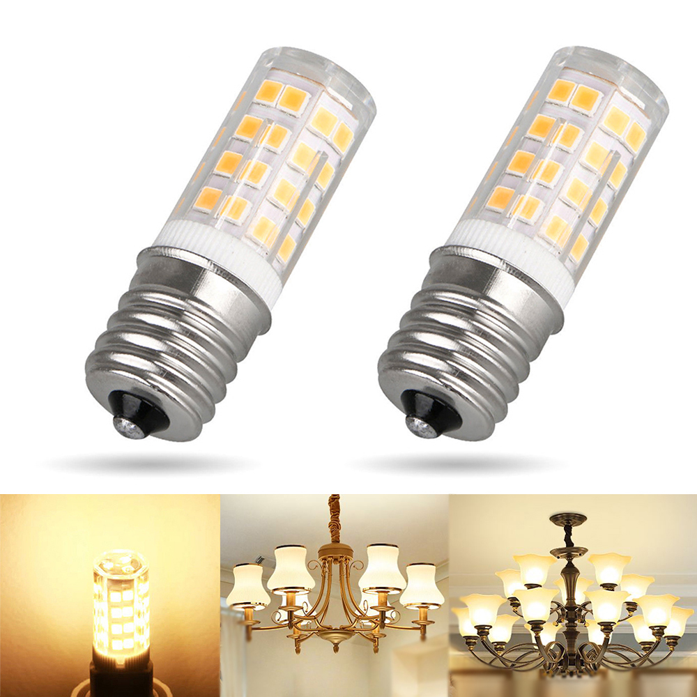 2x Led E17 Base Bulb Dimmable Ceiling Halogen Replacement