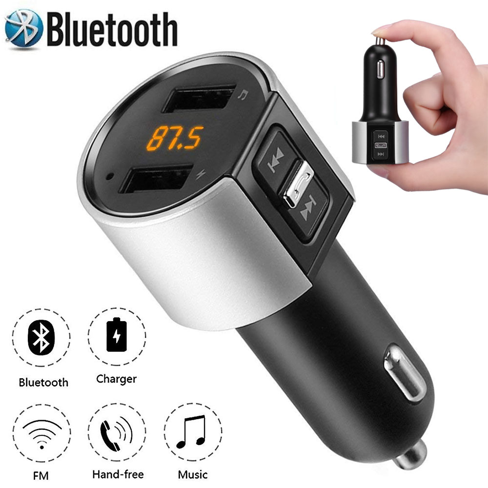 kfz bluetooth fm transmitter auto radio mp3 player 2 usb. Black Bedroom Furniture Sets. Home Design Ideas