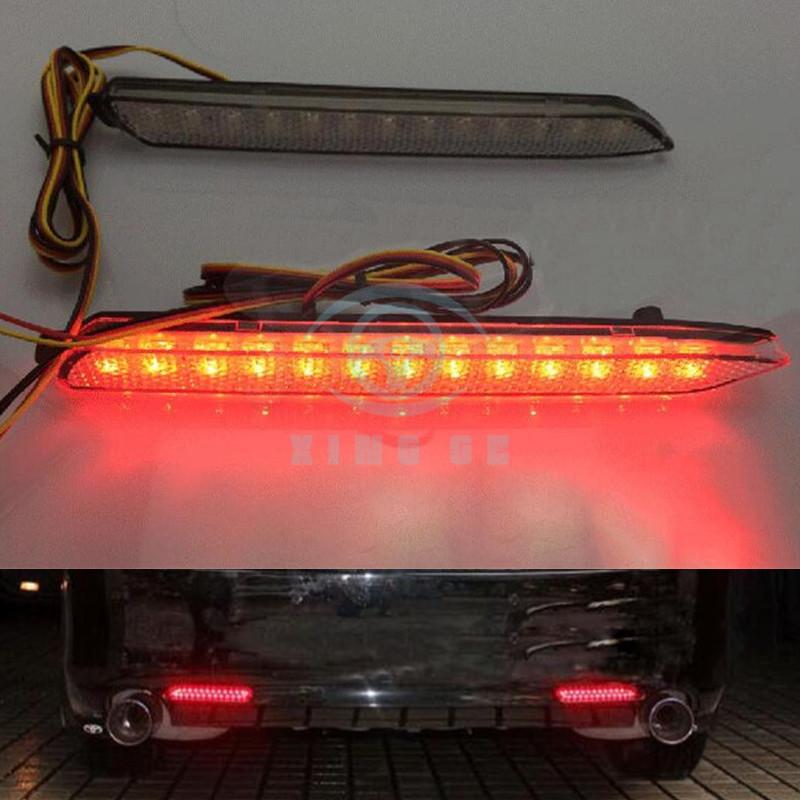 Chrome Rear Bumper Fog lamp Reflector Light Cover Trim fit Toyota Sienna 2011-19