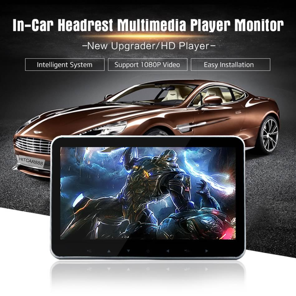Car 10 Inch Screen Headrest LED Monitor SD USB HDMI MP4 MP5 Video Media Player