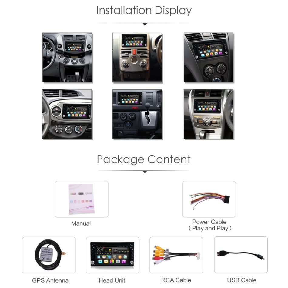car android dash dvd player gps rear camera head unit for nissan hyundai honda