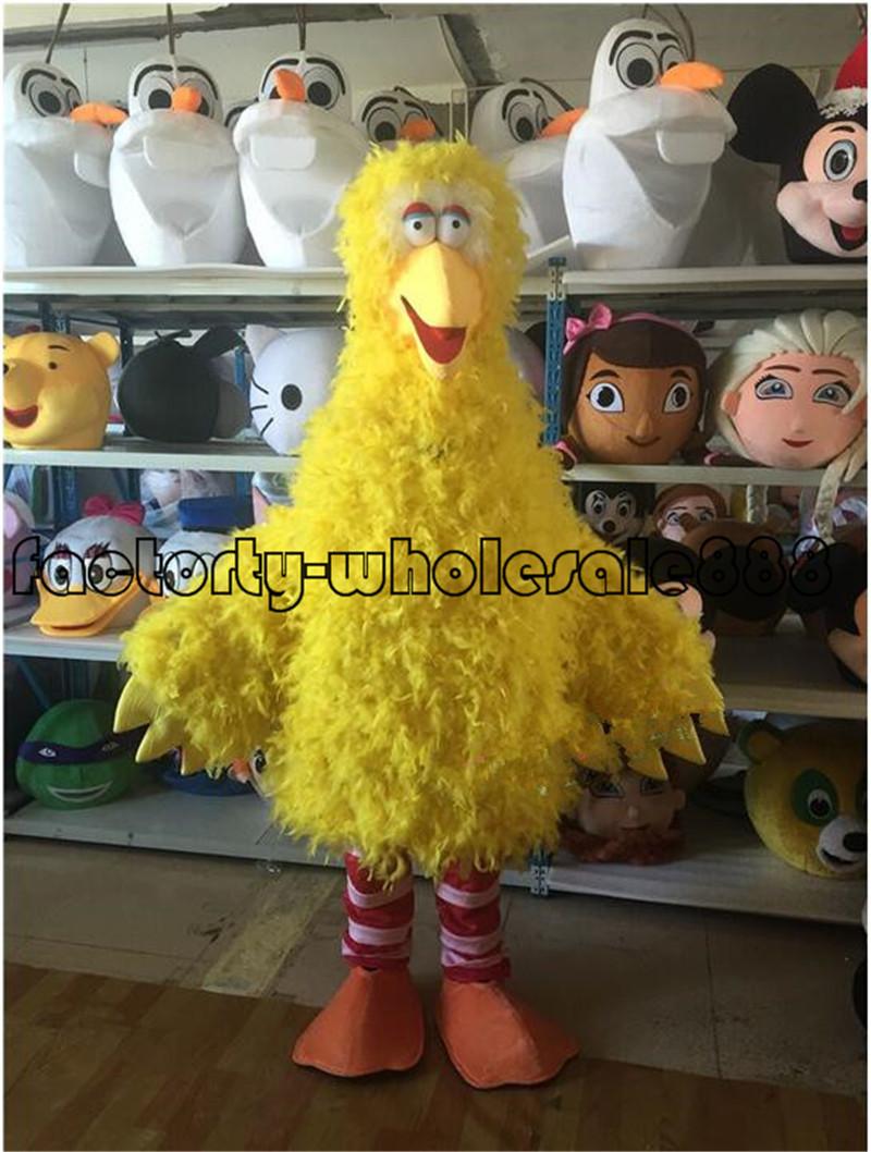 Big Bird Elmo Cookie Sesame Street Mascot Costume Fancy Dress Adult Size