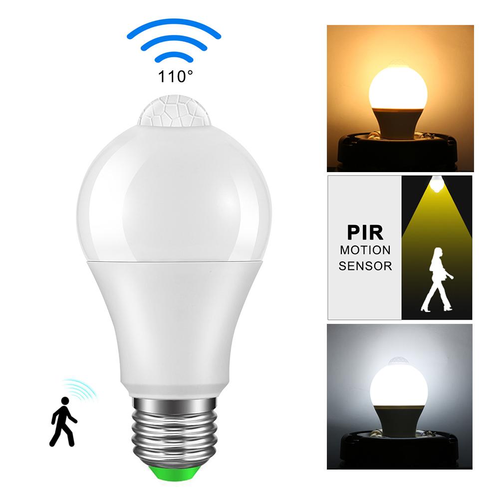 E27-10W-Led-PIR-Motion-Sensor-Light-Bulb-Warm-Cool-White-Lamp-Indoor-120V-220V